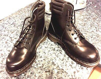 Vintage Dr Martens black leather boots UK 7 EU 41 steel toes Made in England