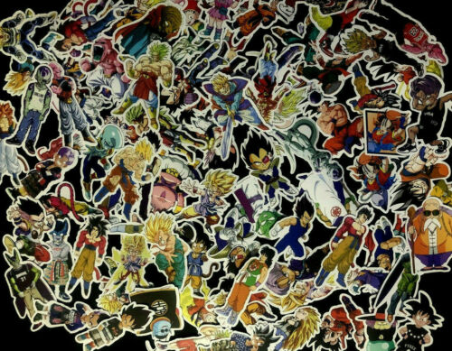 100 Dragon ball Z Dbz Skateboard Stickers bomb Vinyl Laptop  Decals Sticker Lot