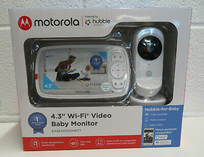 "Motorola Ease44Connect Wi-Fi Video Baby Monitor With 4.3"" HD Color Screen SEALED"