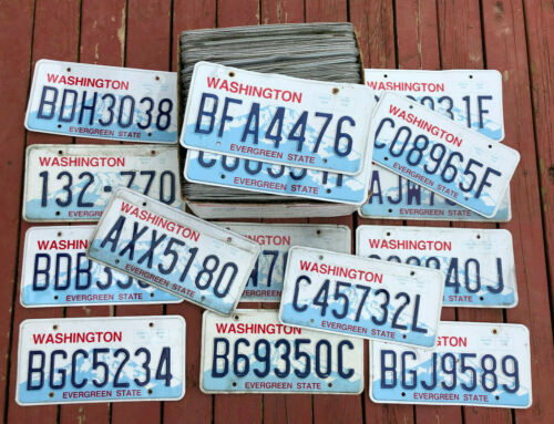100 Washington State Craft Condition License Plates