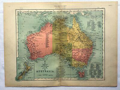 Antique Map Of Australia 1871