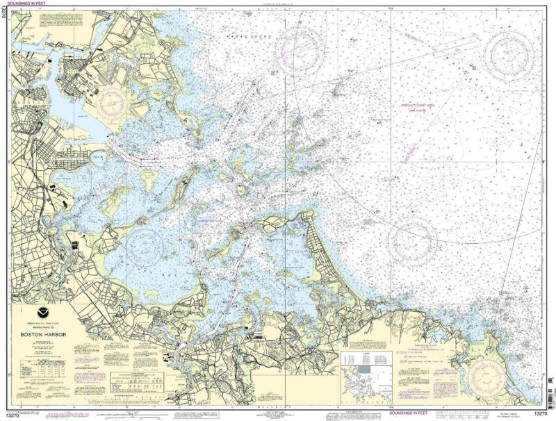 NOAA Chart Boston Harbor 64th Edition 13270