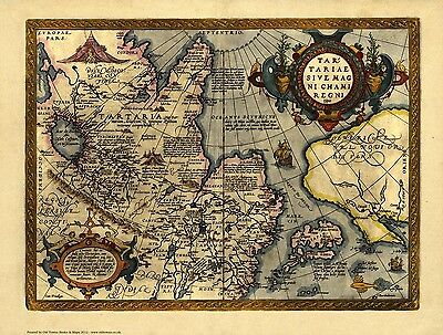 Tartary in 1603 - reproduction of a map by Abraham Ortelius