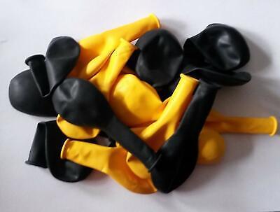 50 gelb schwarz Luftballon Ballon Dekoration Geburtstag Idee für Party Feier  ()