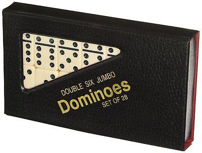 Double 6 Jumbo Dominoes   Ivory