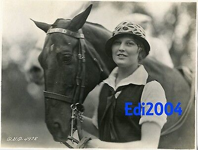 THELMA TODD Vintage Original 1925 Photo Dbl-Wgt RARE Early Fashion Model Career