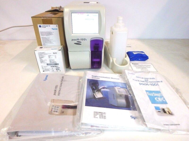 Sysmex Hematology Analyzer pocH-100i w/ Touch 65-pro Reagents Manual Software