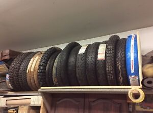 New motorcycle tires various sizes