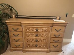12 Drawer Decorative Solid Wood Dresser