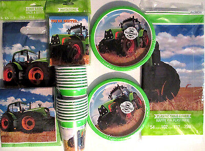 TRACTOR TIME John Deere Style Birthday Party Supply DELUXE Kit w/Bags & Invites](John Deere Birthday Party Supplies)