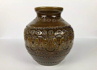 VTG Bitossi Rimini Brown Italian Pottery Vase; Aldo Londi Mid Century Modern
