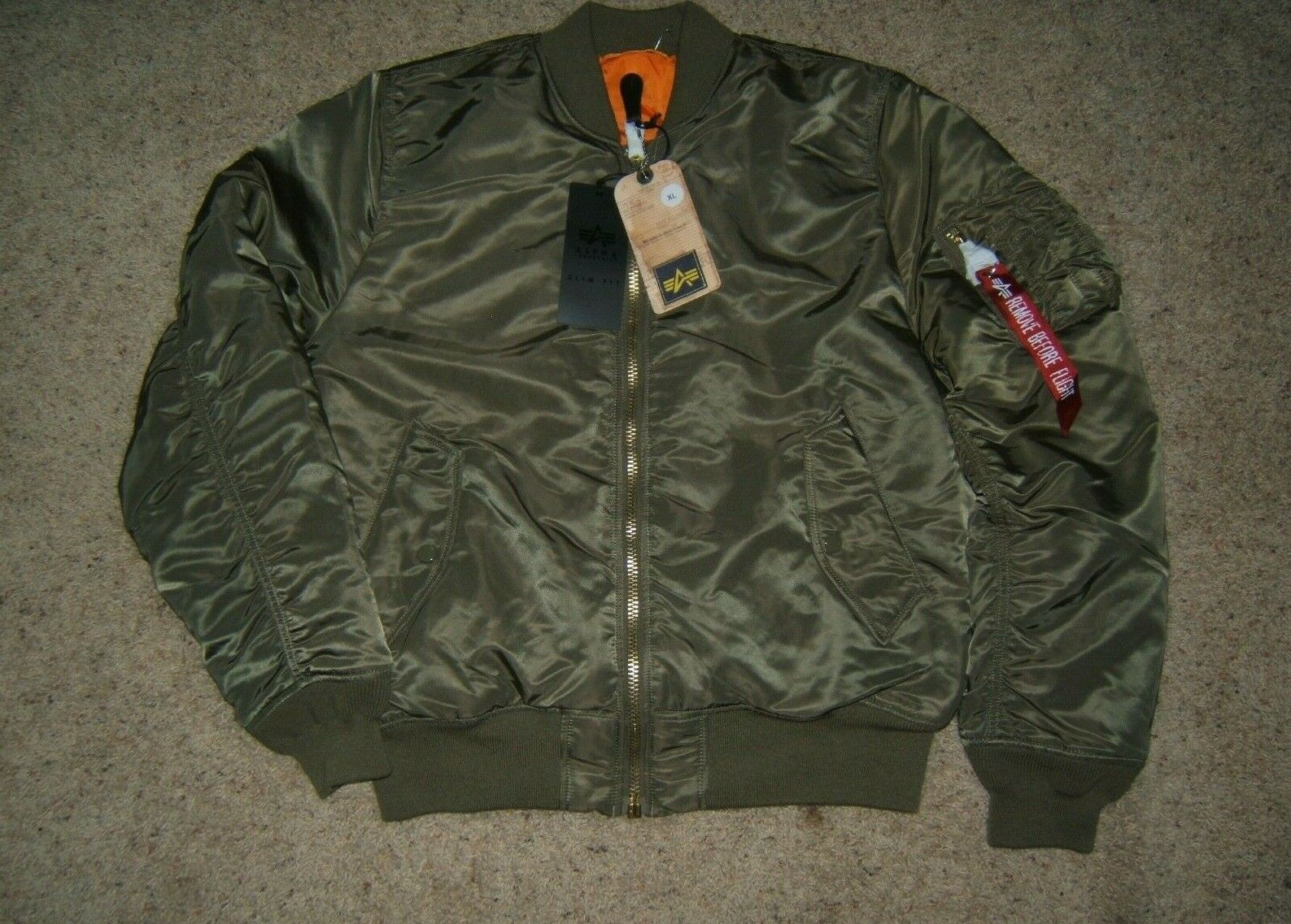 Men's Alpha Industries 'Ma-1' Slim Fit Bomber Jacket, Size X