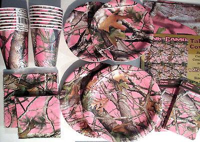 Pink Jagd Camo Geburtstagsparty Pack Stromversorgung Super Satz M / Einladungen