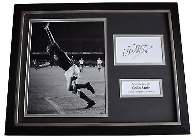 Colin Stein Signed Framed Photo Autograph 16x12 display Glasgow Rangers FC COA