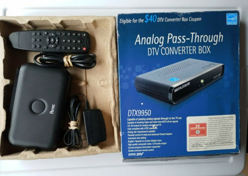 Digital Stream Analog Pass-Through DTV Converter Box DTX9950