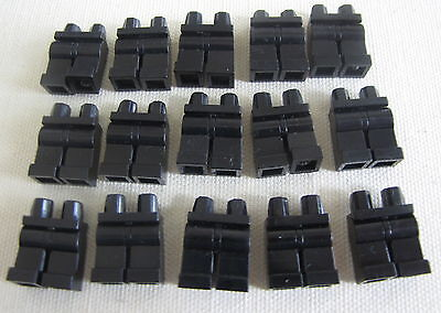 LEGO LOT OF 15 PLAIN BLACK PANTS MINIFIG LEGS HIPS BODY PARTS PIECES