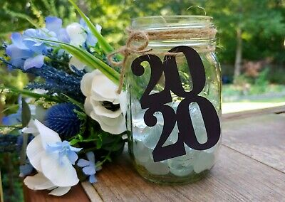 Graduation Party Decor, 2020 Tags for Mason Jars, Graduation Centerpiece Graduation Party Decor