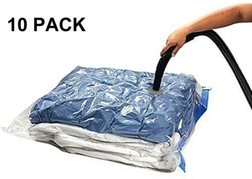 10 PACK XL Space Saver Extra Large Vacuum Seal Storage Bag ZIPLOCK Organizer Bag