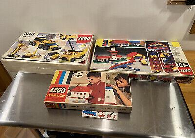 Vintage 1970's Lego Universal Building Set #145, Suburban Set #326, #744 LOT