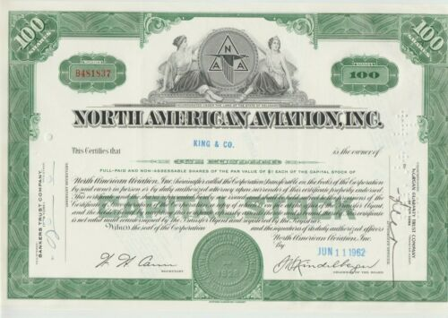 North American Aviation Stock Certificate