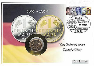 Numisbrief Deutschland Zum Gedenken an die Deutsche Mark 2001
