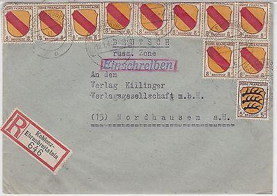 Franz.Zone/ Allg.Ausg., Mi. 3,4(10), R-Koblenz-Ehrenbreitstein, 15.1.47, AKS