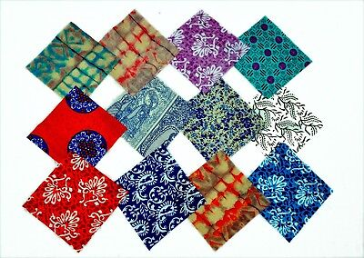 Assorted Pre Cut Charm Pack Squares 100% Cotton Fabric Quilt Scrap Fast (Delivery Quilts)