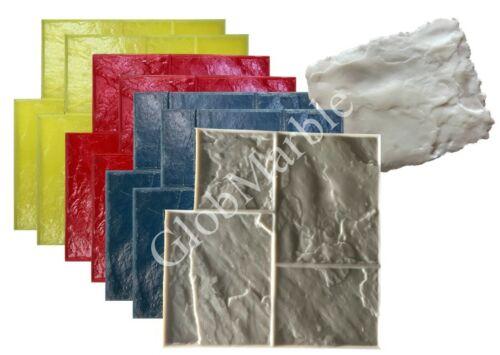 Concrete stamps ashlar slate. 8 Pc. Set. Slate Cement Texture Stamp Mats SM 3002