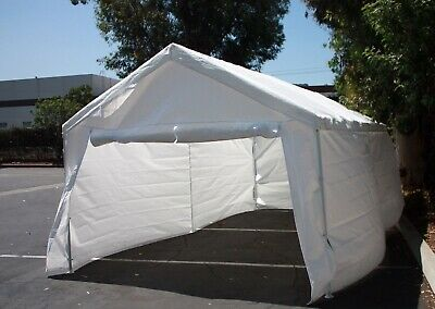 Used, 20'x10' Complete set Garage Carport w/Side Wall & Frames Car Shelter Canopy Tent for sale  Shipping to South Africa