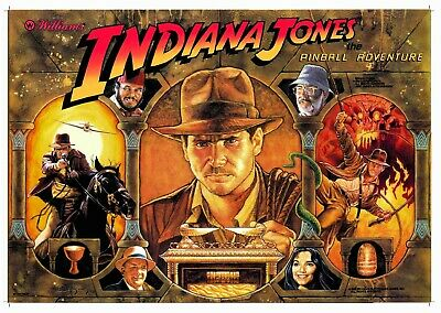 Williams Indiana Jones Pinball Machine Translite
