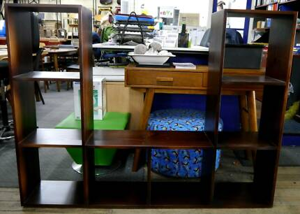 Ex Display Timber TV Unit Storage Cube Display Shelving Shelves