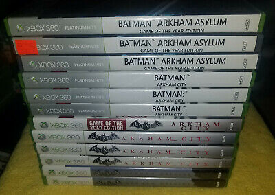 Batman Arkham Games for xbox 360 (sold individually)