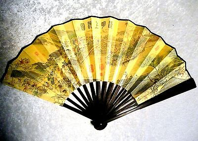"""Along the River on the Qing Ming Festival 13"""" Folding Hand Wall Fan Chinese Asia"""