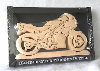 SPORTS BIKE MOTORBIKE - Handcrafted Wooden 23 Piece Puzzle - Superbike Model Kit