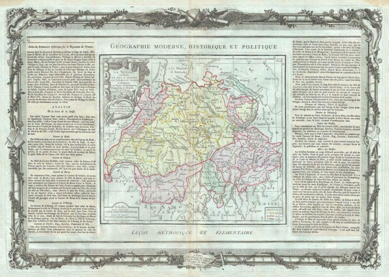 1786 Desnos and de la Tour Map of Switzerland
