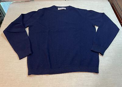 BALLANTYNE 100% PURE CASHMERE Womens Long Sleeve Sweater - Navy Blue Sz 36 / M