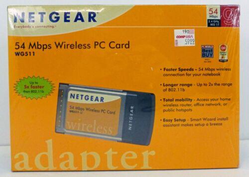 NETGEAR 54 Mbps Wireless PC Card Adapter NOS