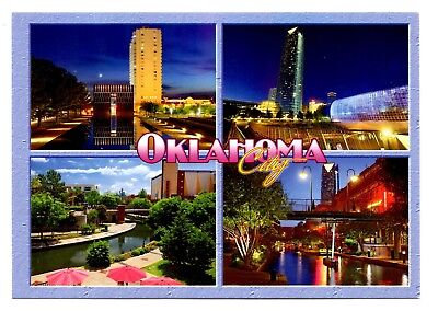 Oklahoma City Postcard New Devon Energy Center Sonic Headquarter Water Taxis