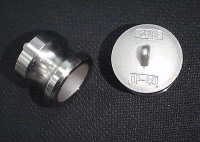 Stainless Steel Cam Lock Adapter Plug 34 Male Seal