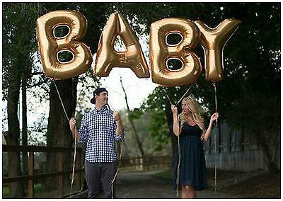 Gold 40.6cm Folienballons 'Baby Dusche' ' Its A Boy' ' It´S Mädchen' ' Oh Baby'