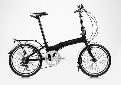 "20"" Folding Shimano 7 Speed Aluminum Bike Color: Black Blue gray orange white"
