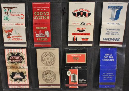 Eight Casino, Clubs, Hotels, Las Vegas Commerce, Matchbooks K