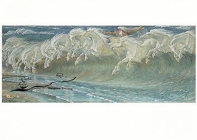 Kunstkarte: Walter Crane - Die Rosse des Neptun