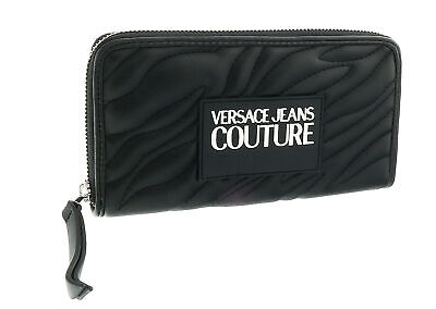 Versace Jeans Couture Black Quilted All  Around Long Wallet