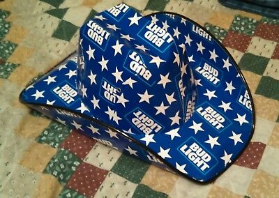 Bud Light Cowboy Hat made from boxes / cartons * Brand New * - Bud Light Made