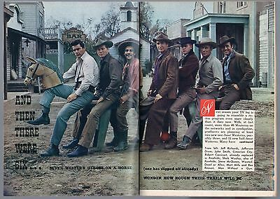1958 TV ARTICLE~STEVE MCQUEEN~WANTED DEAD OR ALIVE~RAWHIDE~SHEB WOOLEY~WESTERNS