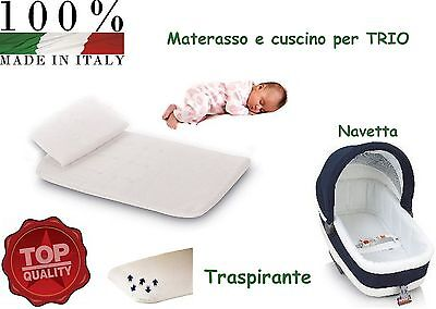 MATERASSO + CUSCINO BAMBINO BIMBO PER CARROZZINA PORTA ENFANT CULLA ANTISOFFOCO