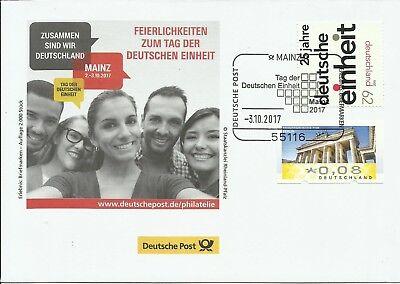 Sonderbeleg Deutsche Post AG -Deutschen Einheit 2017/Beleg 2- Auflage 2000 Stück