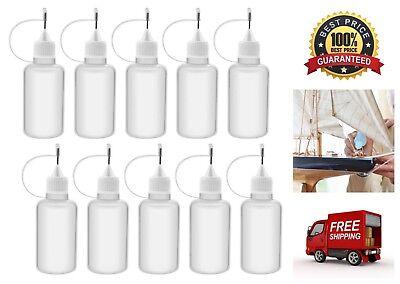 10 Pack Needle Tip Glue Bottle Applicator Precision Tip Liquid Dropper Bottles
