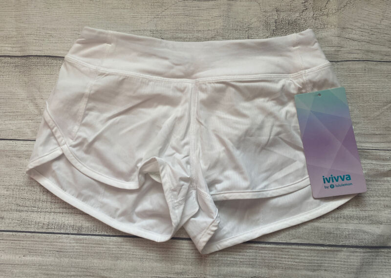 NWT Ivivva By Lululemon Speedy Short SZ 10 WHT White